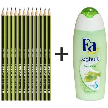 STAEDTLER Bleistift Noris eco 180 30-HB 12 Stück + FA Duschbad GRATIS