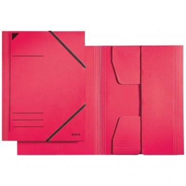 LEITZ Eckspannermappe 3981 A4 rot mit Gummizug