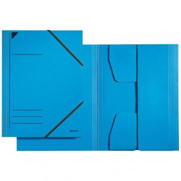 LEITZ Eckspannermappe 3981 A4 blau mit Gummizug