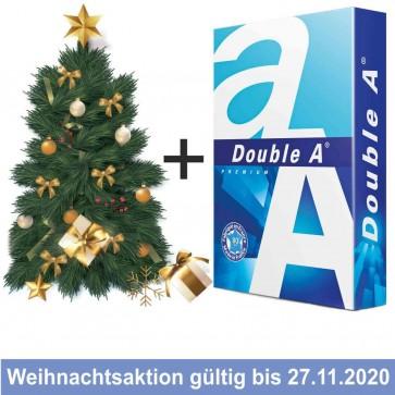 DOUBLE A Kopierpapier A4 80g weiß 1 Palette (200 Pack) + Nordmann Tanne GRATIS
