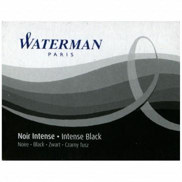 WATERMAN Tintenpatrone Standard  Intense Black (schwarz) 8 Stück