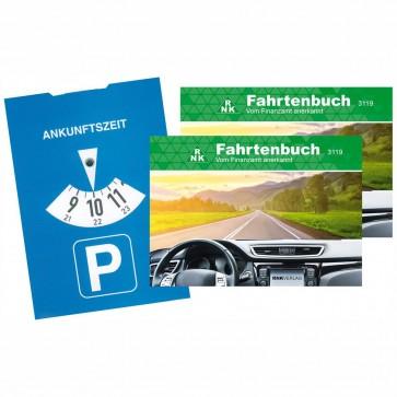 RNK Fahrtenbuch 3119 PKW A6 quer 2 Stück + Parkscheibe GRATIS