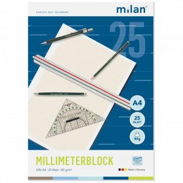 MILAN Millimeterblock A4 25 Blatt