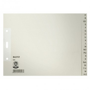LEITZ Register A-Z A4 1210 Papier halbe Höhe 20-teilig