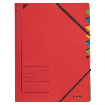 Ordnungsmappe 7 Fächer rot