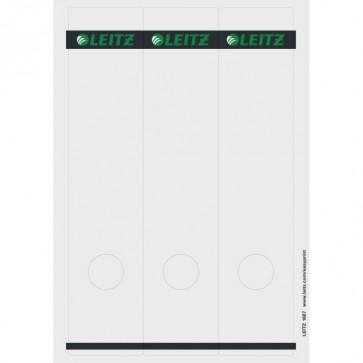 LEITZ Rückenschilder 1687 weiß / grau 61x285mm 75 Stück