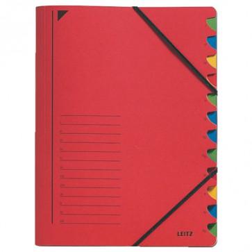 LEITZ Ordnungsmappe 3912 12 Fächer rot
