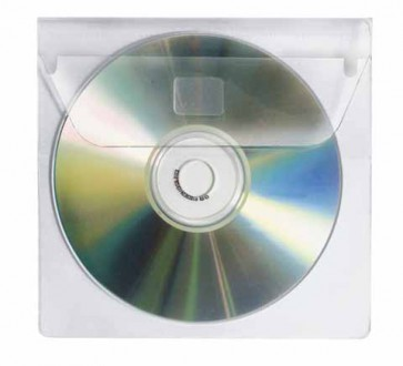 VELOFLEX CD-Rom Hülle 2259000 selbstklebend mit Lasche PP-Folie