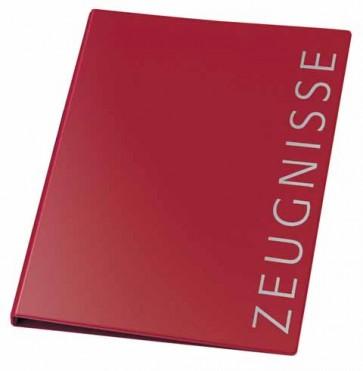 VELOFLEX Zeugnisringbuch A4 4-Ring 16mm weinrot incl. 10 Hüllen