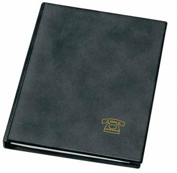 VELOFELX Telefon Ringbuch A5 schwarz mit Register und Einlagen