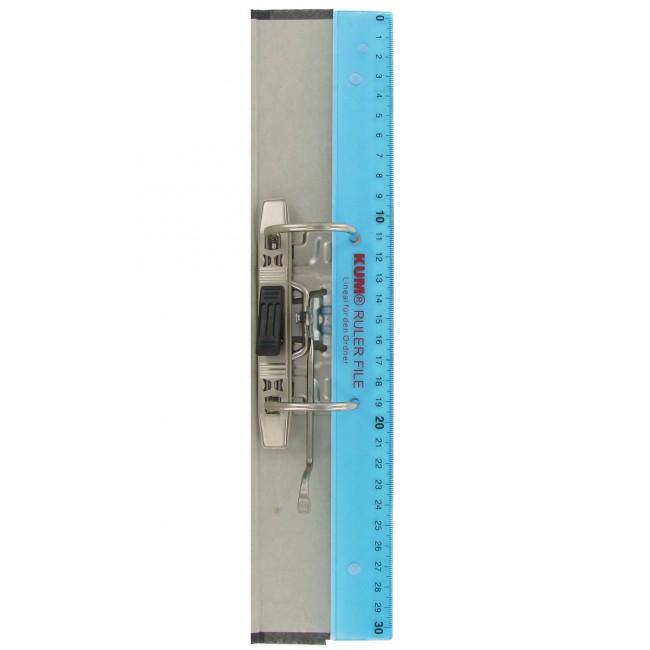 Ruler File Kunststofflineal 30 cm KUM L03 im Ordner abheftbar