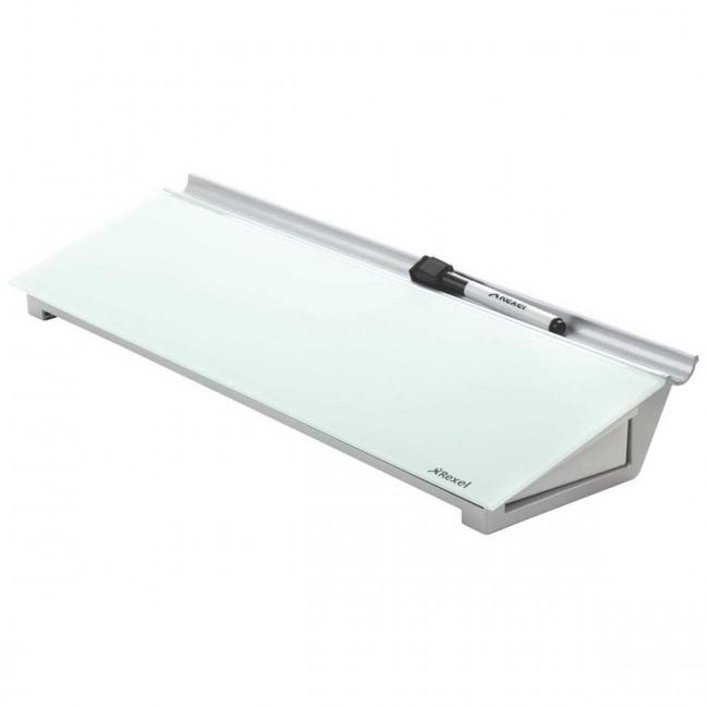 rexel schreibtisch glas memoboard diamond wei silber spezialmarker. Black Bedroom Furniture Sets. Home Design Ideas