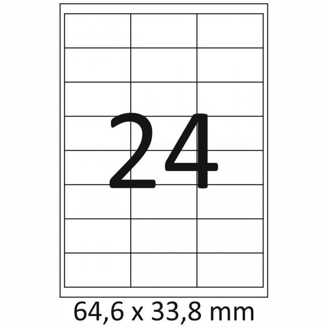 Etiketten Selbstklebend 64,6 x 33,8 mm 2400 Stück änhlich Avery 3658 Herma 4262