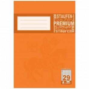 STAUFEN Premium Block A4 50 Blatt rautiert LIN 29 gelocht
