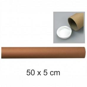 STAUFEN Versandrolle 50x5cm Pappe 2mm braun