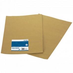 MILAN Packpapier 70 x 100 cm 955 braun 2 Stück
