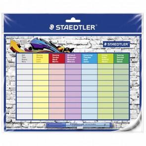 STAEDTLER Stundenplan 641 SP2 abwischbar incl. Folenstift F