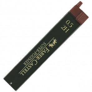 FABER CASTELL Bleistiftmine SUPER-POLYMER 0,5mm 2H 12 Stück