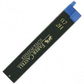 FABER CASTELL Bleistiftmine SUPER-POLYMER 0,7mm 2H 12 Stück