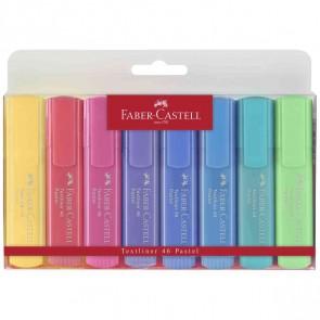 FABER CASTELL Textmarker Set 2 Textliner 46 Pastell 8 Farben