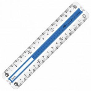 FABER CASTELL Lineal Grip Premium 15cm Rechts- und Linkshänder