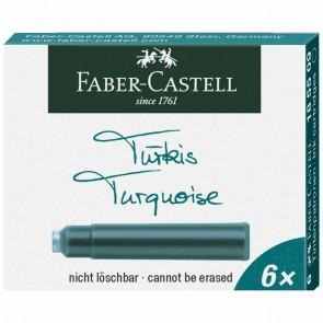 FABER CASTELL Tintenpatronen Standard türkis 6 Stück