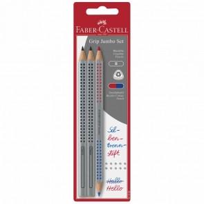 FABER CASTELL 2x Jumbo Grip Bleistift + Silbentrennstift im SPARPACK