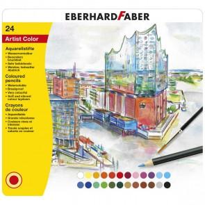 EBERHARD FABER Farbstifte Artist Color Aquarell 24 Stück im Metalletui