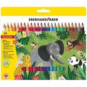 EBERHARD FABER Farbstift Colori Jumbo Dreikant 24 Farben