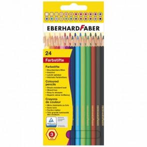 EBERHARD FABER Farbstifte 24 Stück Etui hexagonal