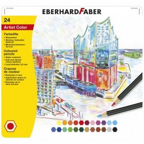 EBERHARD FABER Farbstifte Artist Color wasserfest 24 Stück im Metalletui