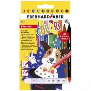 EBERHARD FABER Fasermaler Zauber-Marker 10 Stifte = 20 Farben