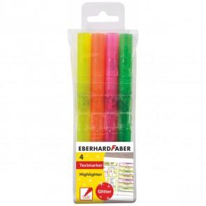 EBERHARD FABER Textmarker Glitter Neon 4 Farben