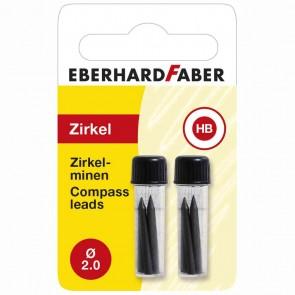 EBERHARD FABER Ersatzmine für Zirkel HB 2 x 4 Stück -DOPPELPACK-