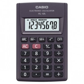 CASIO Taschenrechner HL-4A 8-stellig Batteriebetrieb