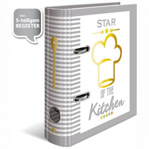 HERMA Rezeptordner DIN A5 mit Register -Star of the Kitchen-