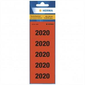 HERMA Jahreszahl / Jahresschild 2020 1680 60x26mm rot 100 Stück
