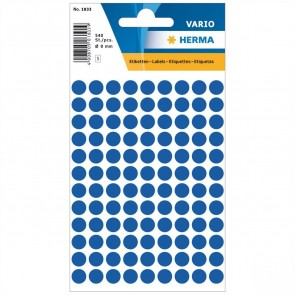 HERMA Markierungspunkte 1833 8mm dunkelblau 540 Etiketten