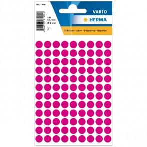 HERMA Markierungspunkte 1836 8mm pink 540 Etiketten