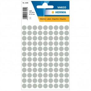 HERMA Markierungspunkte 1838 8mm grau 540 Etiketten