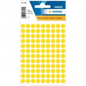 HERMA Markierungspunkte 1841 8mm gelb 540 Etiketten