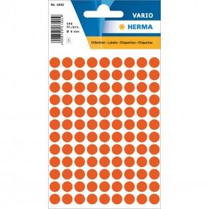 HERMA Markierungspunkte 1842 8mm rot 540 Etiketten