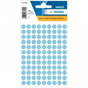 HERMA Markierungspunkte 1843 8mm hellblau 540 Etiketten
