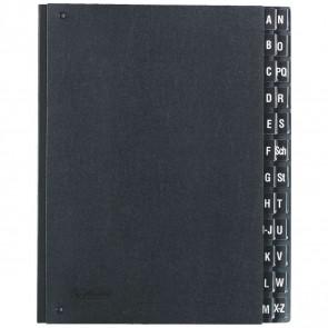 HERLITZ Pultordner A-Z Hartpappe schwarz mit Kunststofftabs