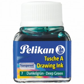 PELIKAN Tusche im Glas 10ml dunkelgrün (7)