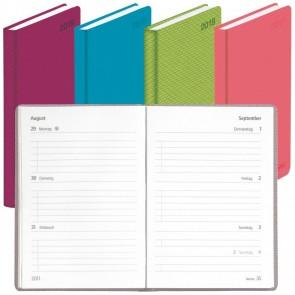 HERLITZ Taschenkalender Colori A7 2021 1 Woche = 2 Seiten 168 Seiten