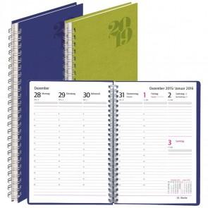 HERLITZ Buchkalender NATURE A5 2021 mit Spirale 1 Woche = 2 Seiten blau / grün