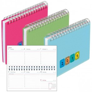 HERLITZ Schreibtischkalender 2019 Mini Protect 128 Seiten 1 Woche = 2 Seiten