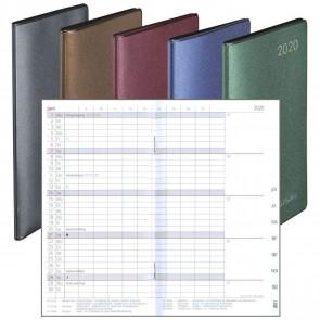 HERLITZ Taschenkalender Slimline 2021 Folie 1 Monat = 2 Seiten farbig sortiert