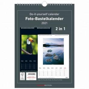 HERLITZ Foto u. Bastelkalender 2021 A4 schwarz / weiss beidseitig verwandbar